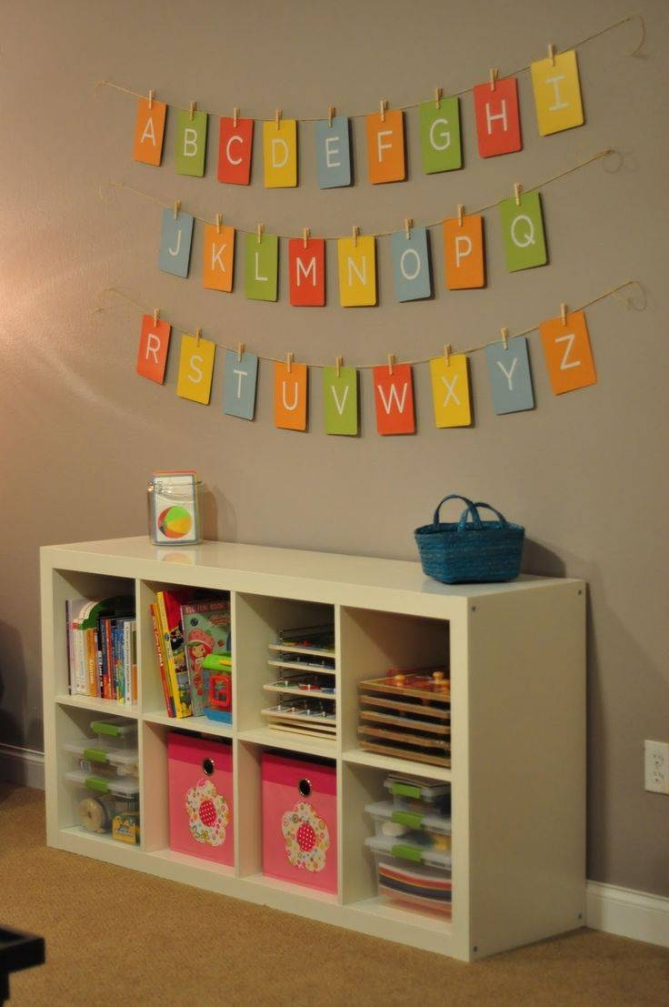 Chic Alphabet Wall Art Pinterest Cute Ideas For Nursery Alphabet Regarding 2017 Wall Art For Playroom (View 11 of 30)