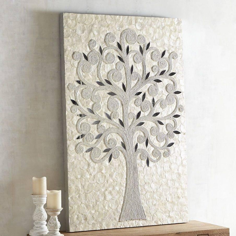 Chic Eloquence Bloom Capiz Shell Flower Wall Art Capiz Wall Art Within Current Capiz Shell Wall Art (View 12 of 30)