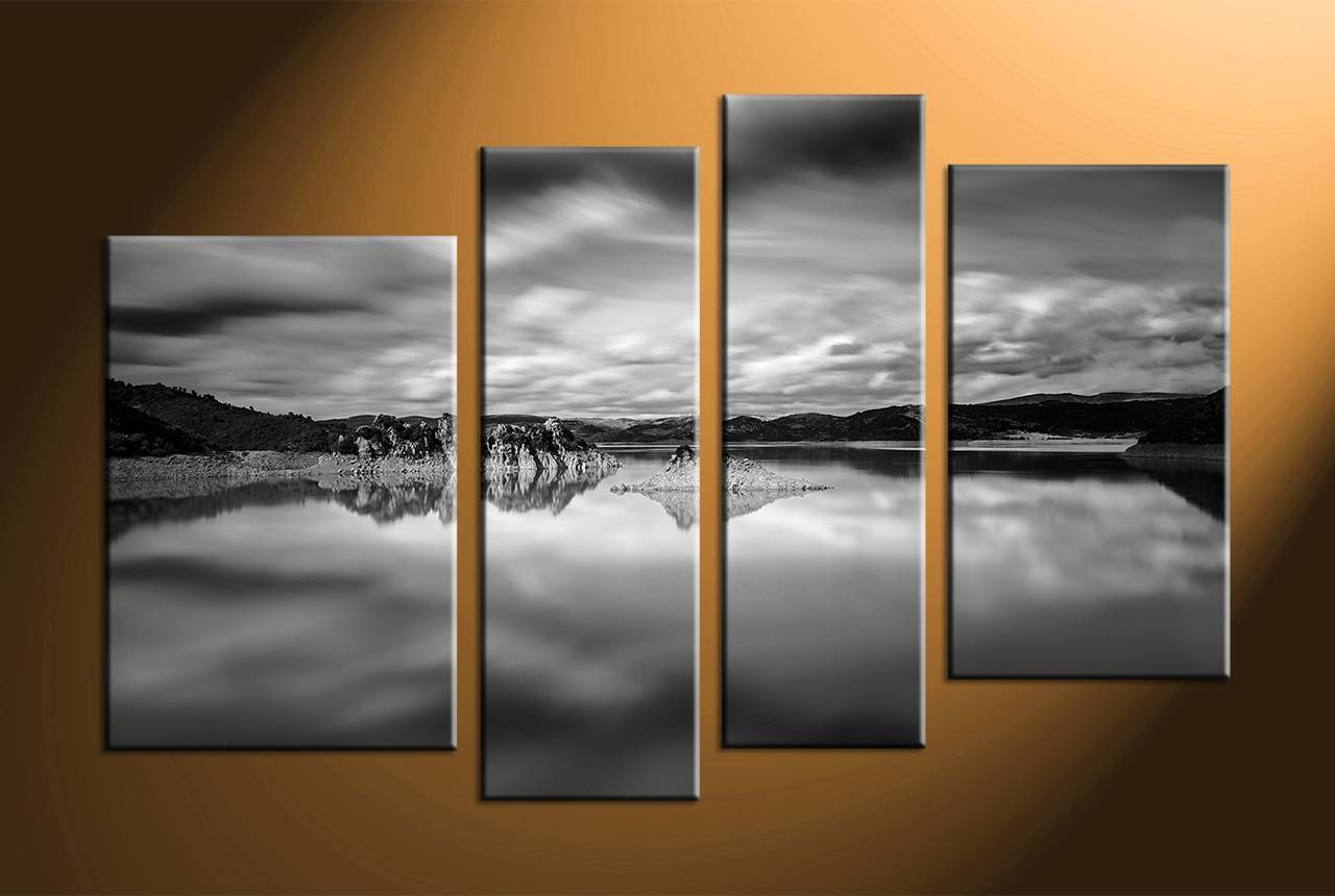 Chic Landscape Wall Art Black And White Home Daccor Piece Canvas Regarding Most Up To Date Cheap Black And White Wall Art (View 11 of 20)