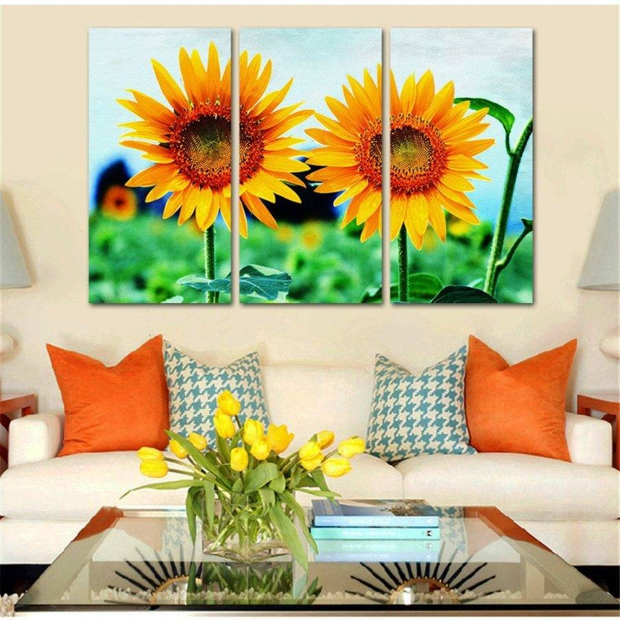 Chic Sunflower Wall Art Uk Sunflower Home Decor Is Sunflower Vinyl For Most Current Outside Wall Art (View 7 of 31)