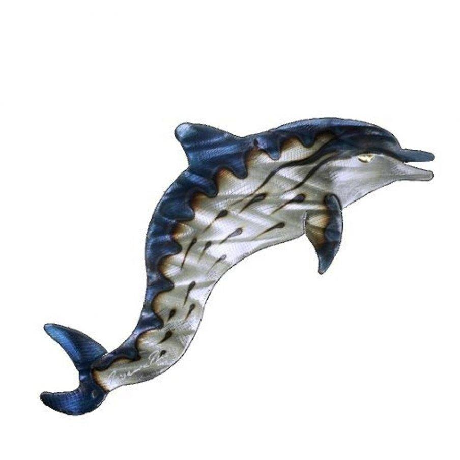 Chic Wall Design Decorative Metal Wall Hanging Metal Sailing Ship Inside Most Current Dolphin Metal Wall Art (View 18 of 25)