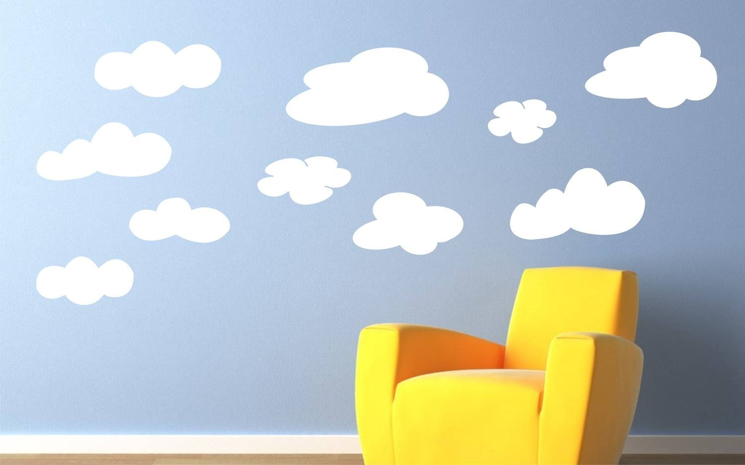 Childrens Decor Vinyl Wall Art Clouds Childrens Wall Decal Intended For Most Recent Etsy Childrens Wall Art (View 5 of 20)