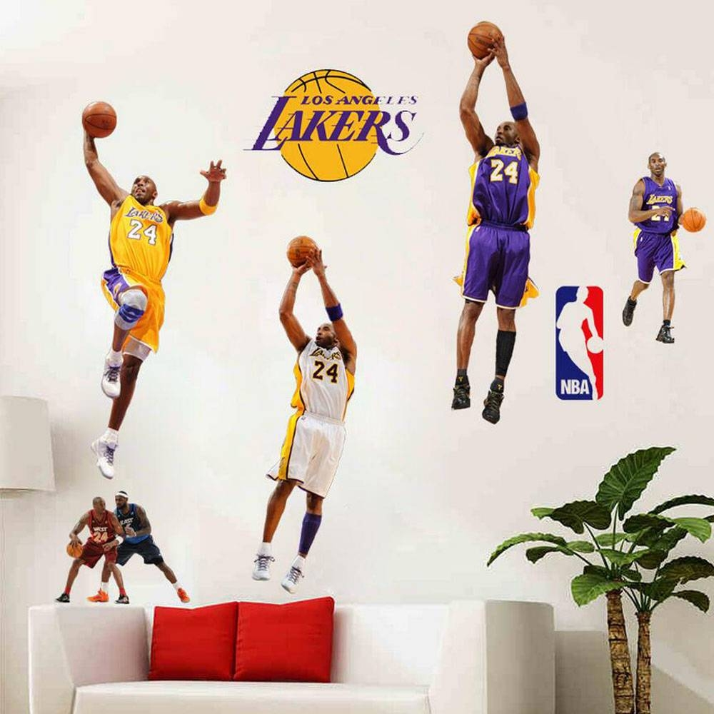 Children's Room 3D Basketball Wall Stickers Removable Kids Wall throughout Best and Newest Nba Wall Murals