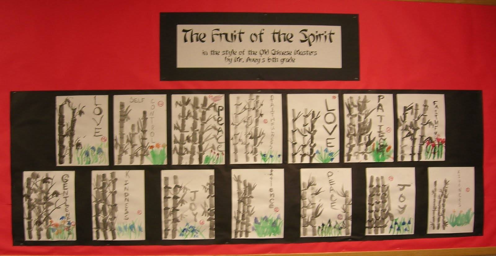 Chinese Brush Painting | Teachkidsart Intended For Best And Newest Fruit Of The Spirit Artwork (View 12 of 30)