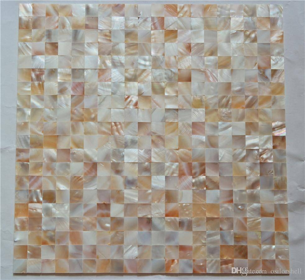 Chinese Freshwater Shell Mother Of Pearl Mosaic Tiles For Interior With Recent Mother Of Pearl Wall Art (View 3 of 15)
