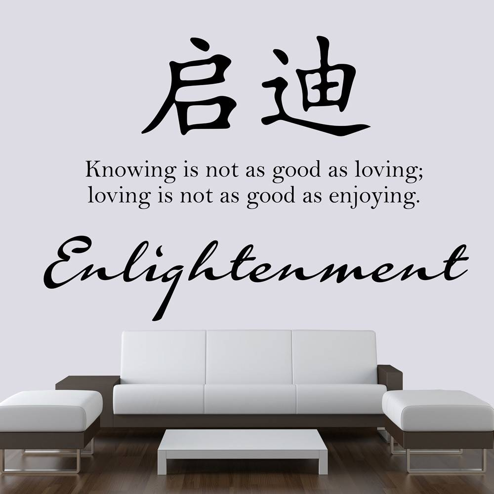 Chinese Proverb Wall Stickers | Iconwallstickers.co (View 21 of 25)