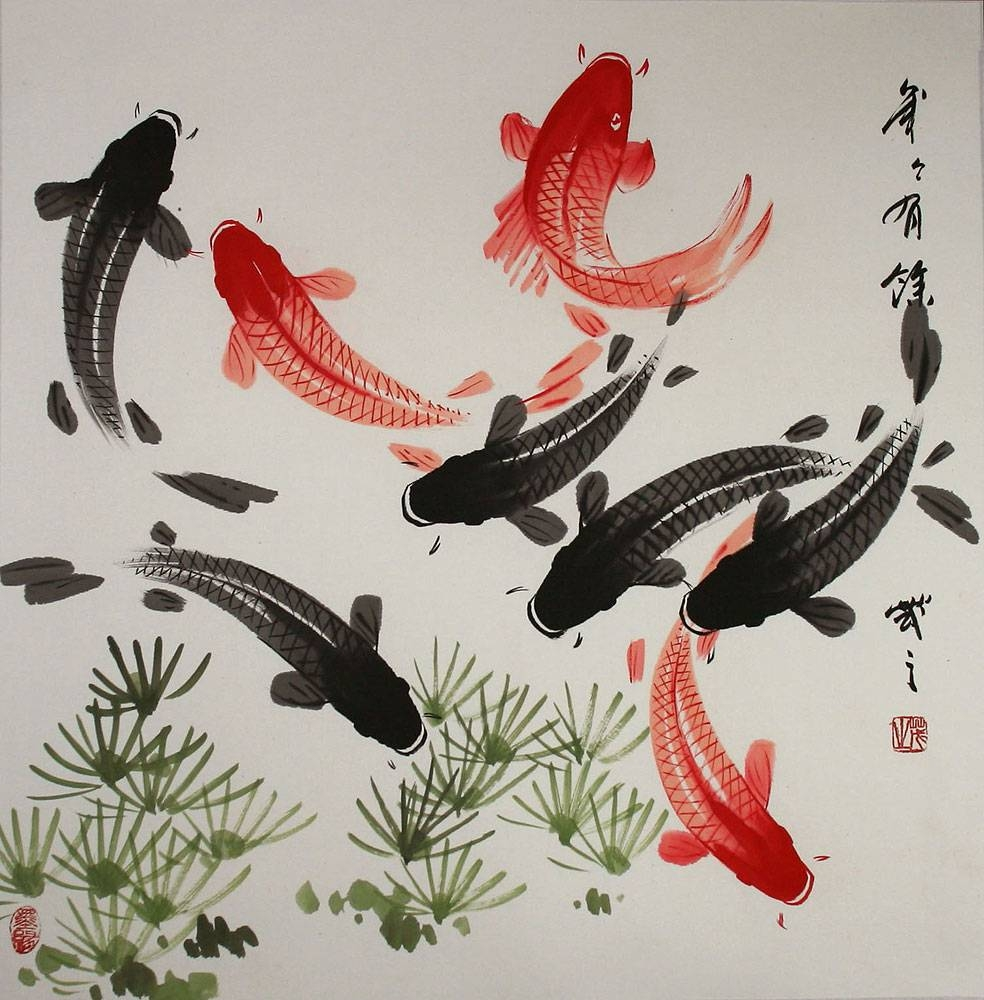 Chinese Symbol N Koi Fish Tattoo Design: Real Photo, Pictures With Newest Chinese Symbol Wall Art (View 6 of 30)
