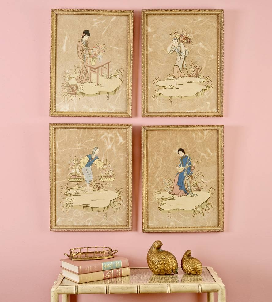Chinoiserie Wall Vignette Set | Home Decor & Lighting | Finder Not For Most Up To Date Chinoiserie Wall Art (View 3 of 30)
