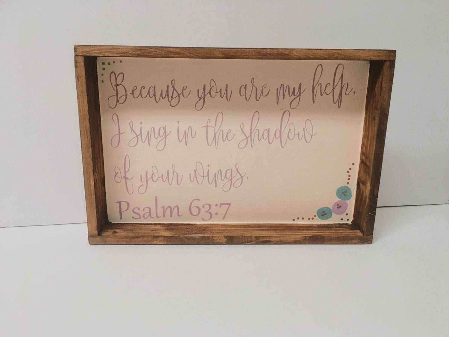 Christian Wall Art, Christian Shelf Art, Christian Wood Art Throughout Most Popular Bible Verses Framed Art (View 13 of 25)