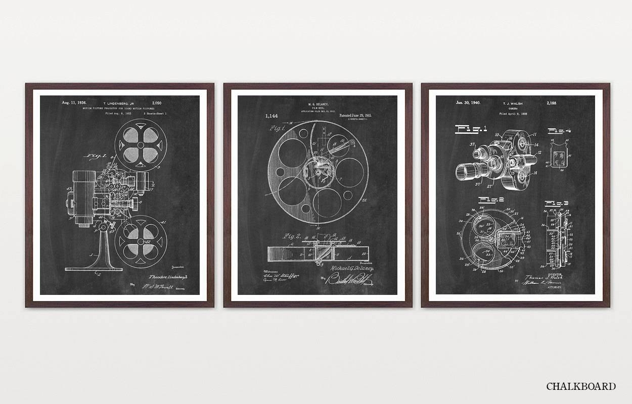 Cinema Patent Inventions Of Film Movie Poster Movie In Most Recent Film Reel Wall Art (View 7 of 30)