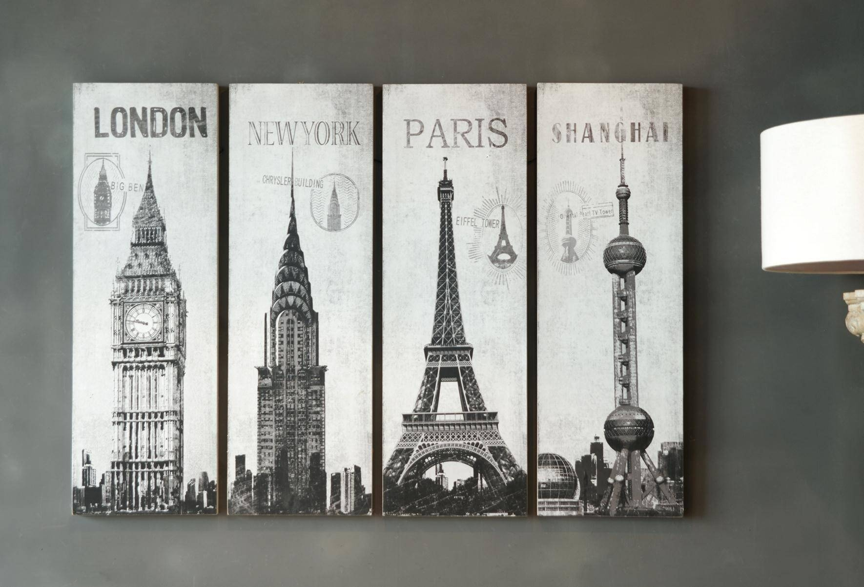 City Wall Art Unique As Canvas Wall Art For Outdoor Metal Wall Art For Most Recent Eiffel Tower Metal Wall Art (View 8 of 30)