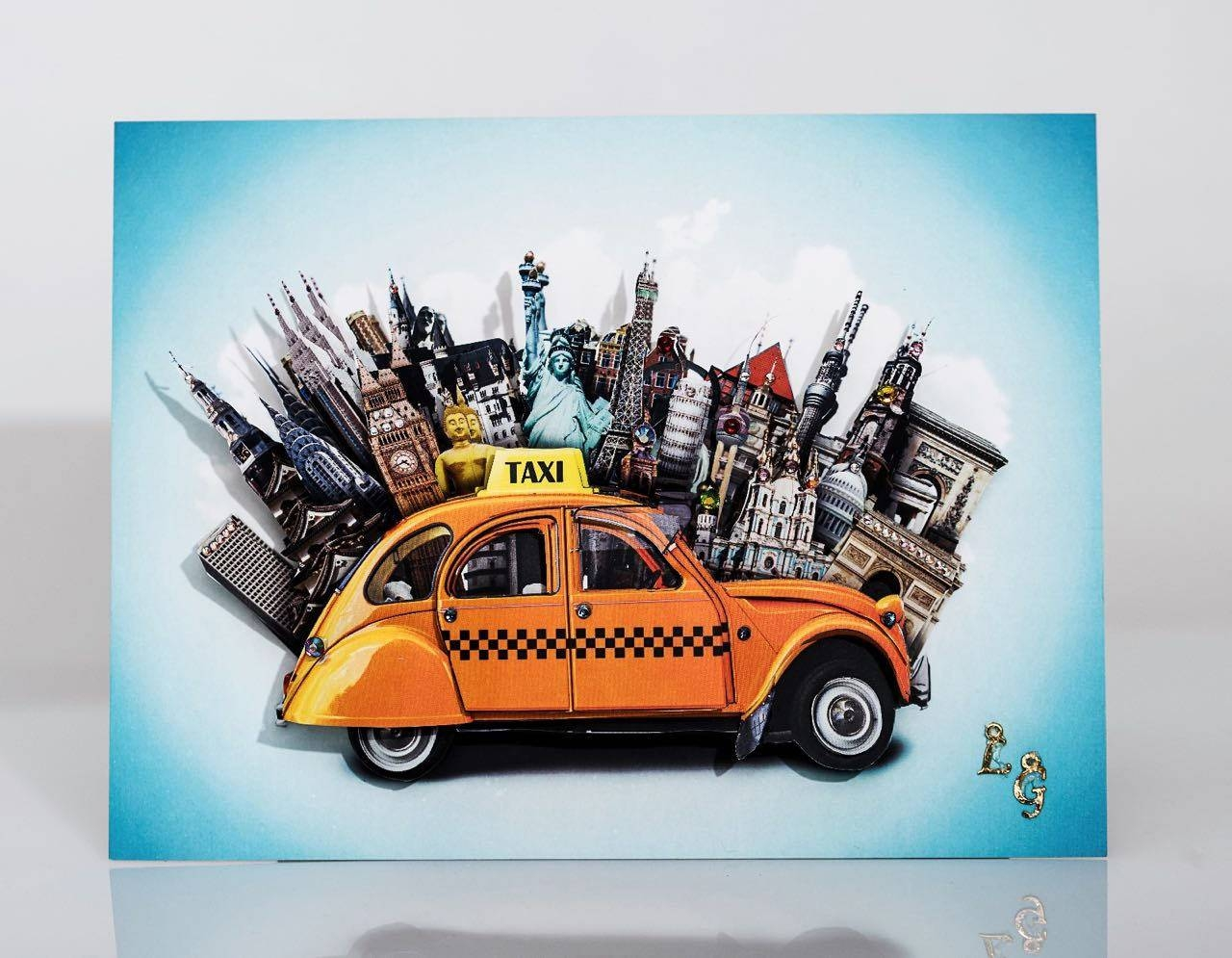 Cityscape, New York, 3D Wall Art, Paper Art, Travel, Taxi, Wall Pertaining To Most Current New York 3D Wall Art (View 3 of 20)