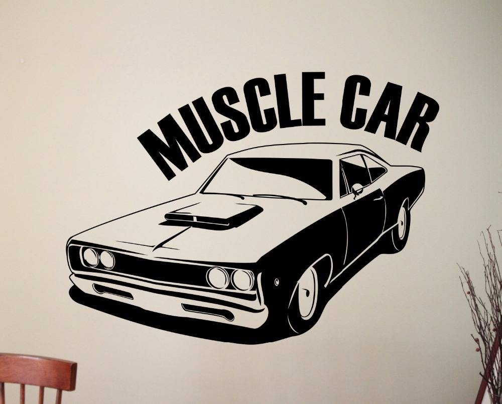 Classic Muscle Car Wall Sticker Removable Vinyl Wall Decal Wall With Regard To Most Up To Date Classic Car Wall Art (View 12 of 25)
