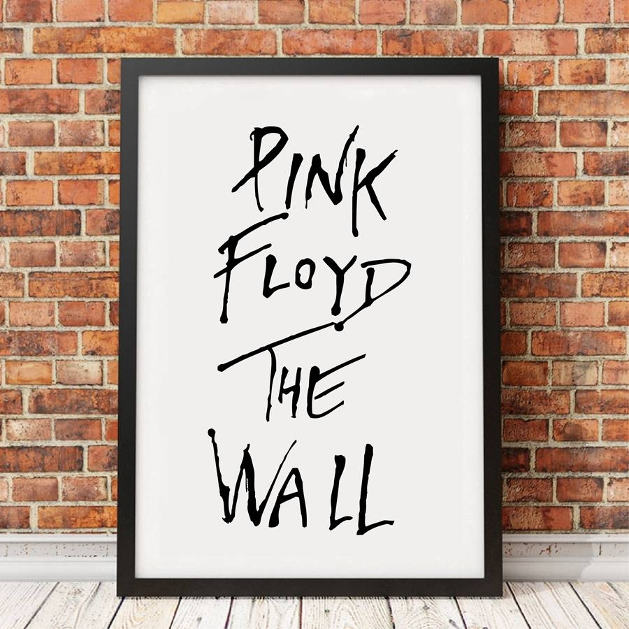 Classic Rock Music Lyrics Wall Art Print Poster , Pink Floyd The Pertaining To 2018 Music Lyrics Wall Art (View 18 of 20)