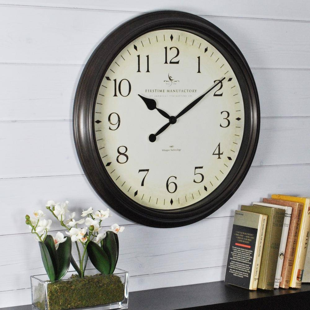 Classic – Wall Clocks – Wall Decor – The Home Depot For Most Current Italian Ceramic Wall Clock Decors (View 11 of 25)
