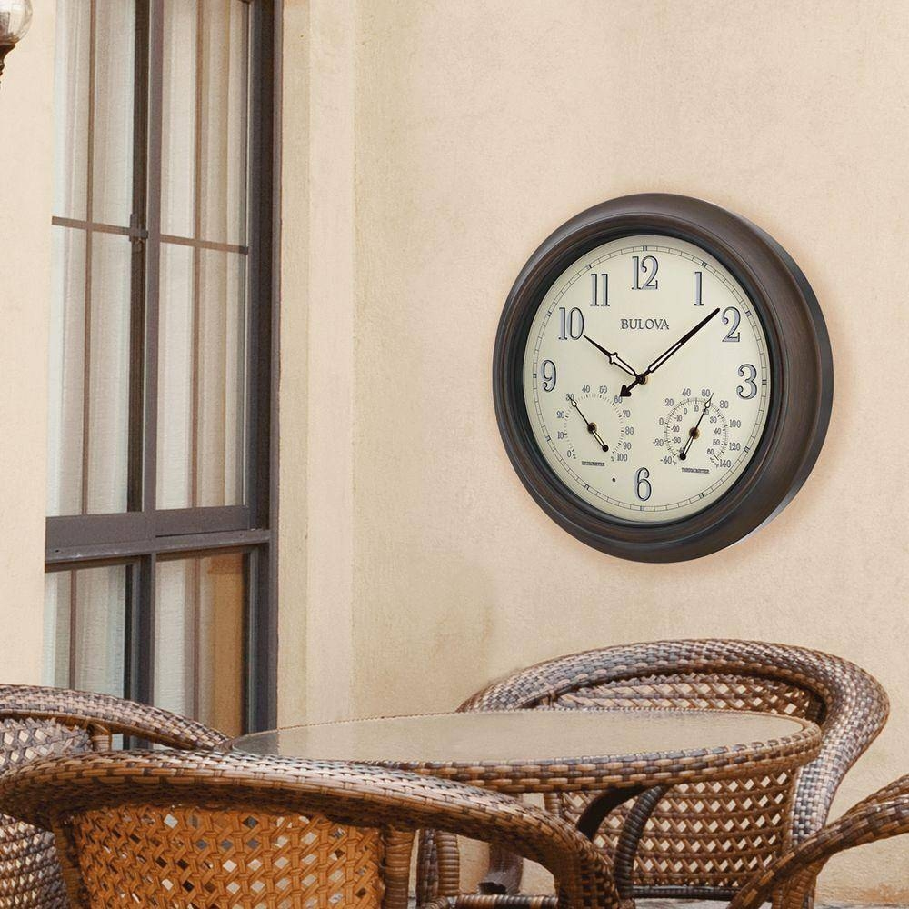 Classic – Wall Clocks – Wall Decor – The Home Depot Intended For Most Recent Italian Ceramic Wall Clock Decors (View 13 of 25)