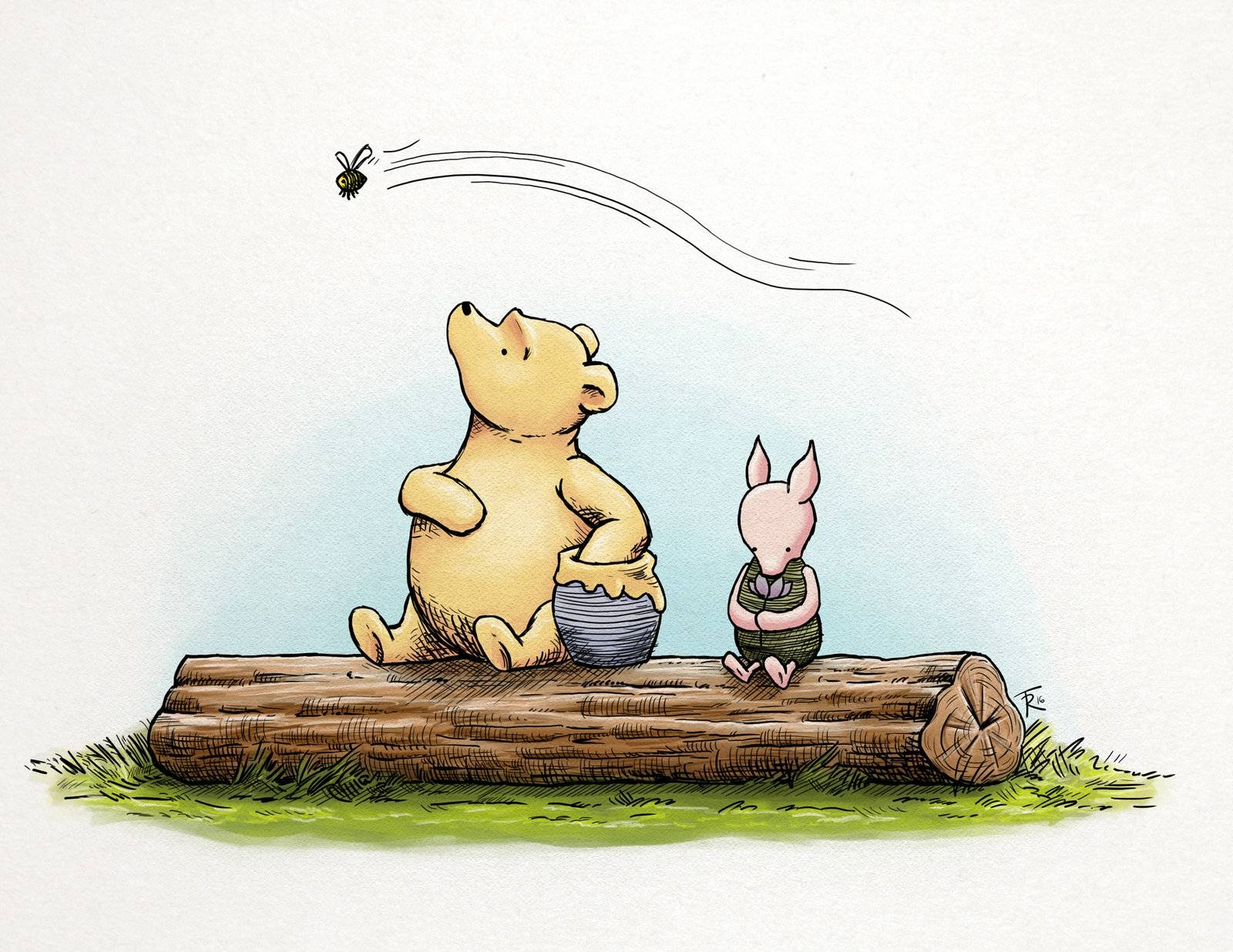 Classic Winnie The Pooh And Pigletsphinkrink On Deviantart With Regard To 2018 Classic Pooh Art (View 9 of 20)