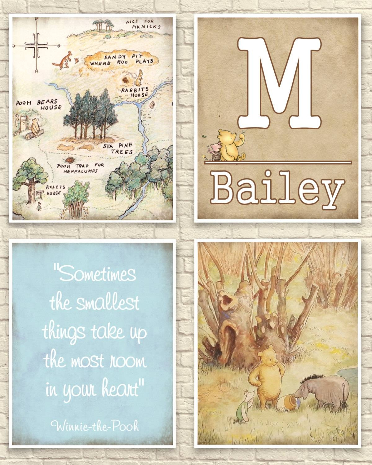Classic Winnie The Pooh Wall Art Winnie The Pooh Art Print Throughout Best And Newest Winnie The Pooh Nursery Quotes Wall Art (View 10 of 20)