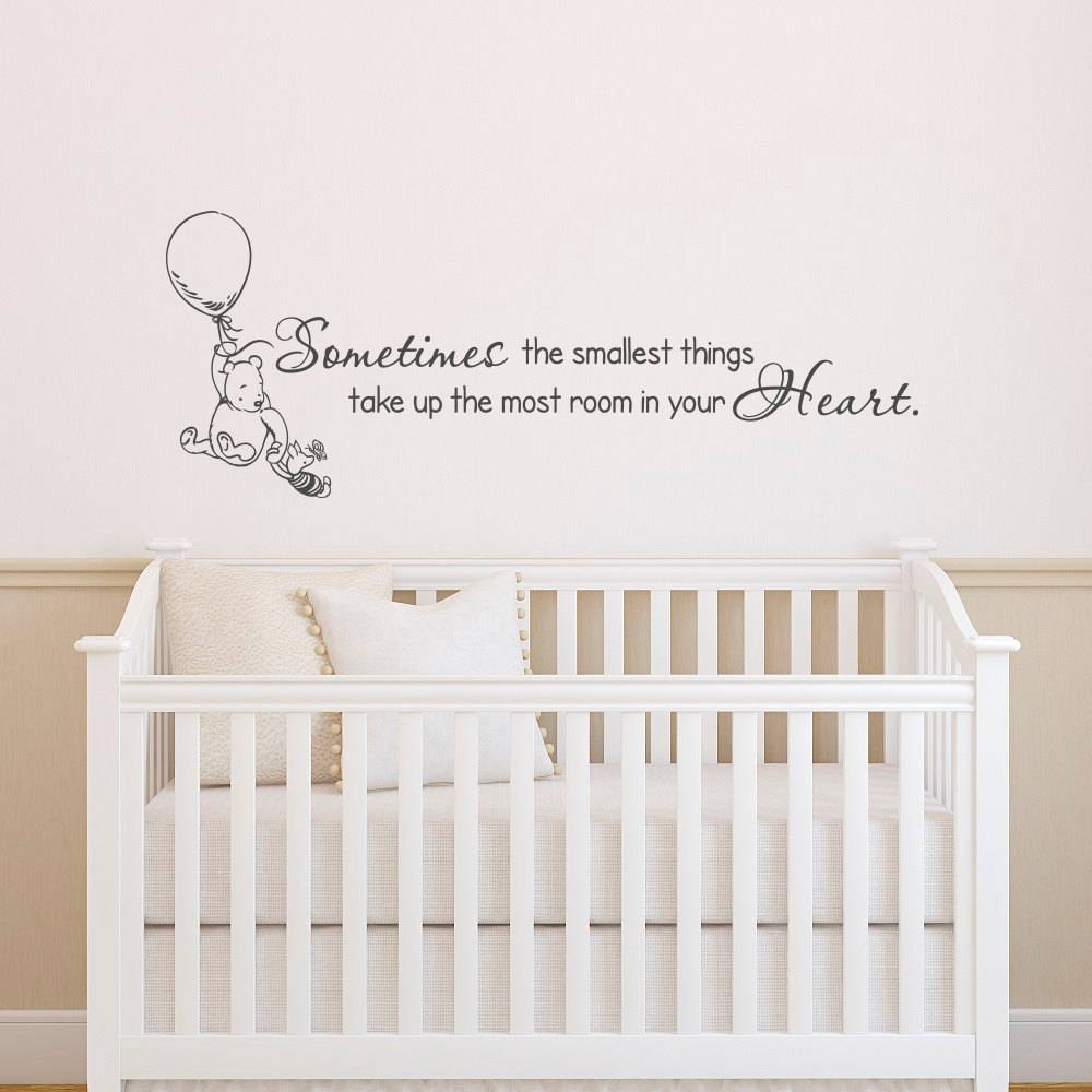 Classic Winnie The Pooh Wall Decals Quotes Sometimes The Within 2017 Winnie The Pooh Wall Art For Nursery (View 2 of 15)