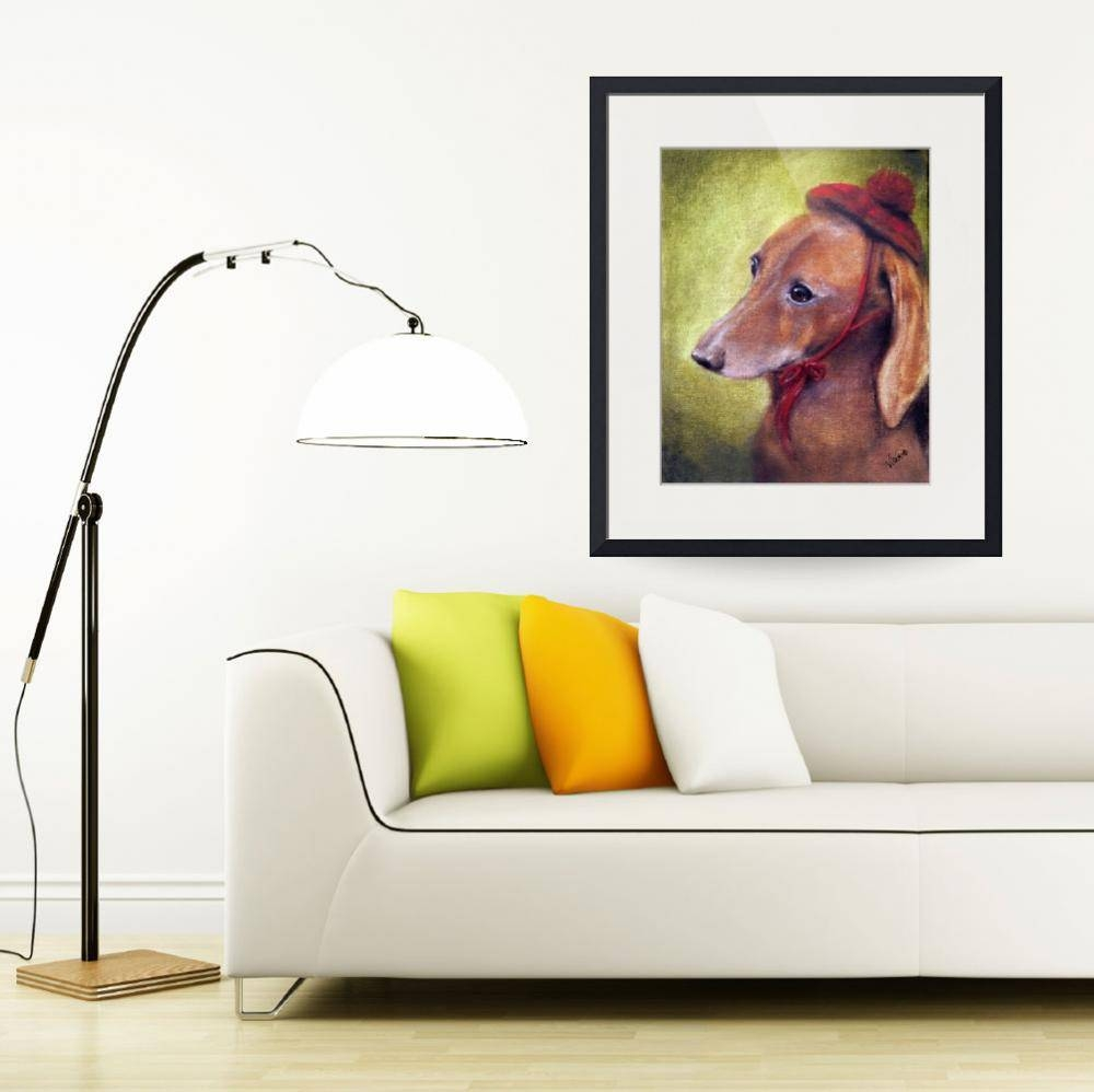 """Classical """"dachshund"""" Artwork For Sale On Fine Art Prints Intended For Newest Dachshund Wall Art (View 12 of 22)"""