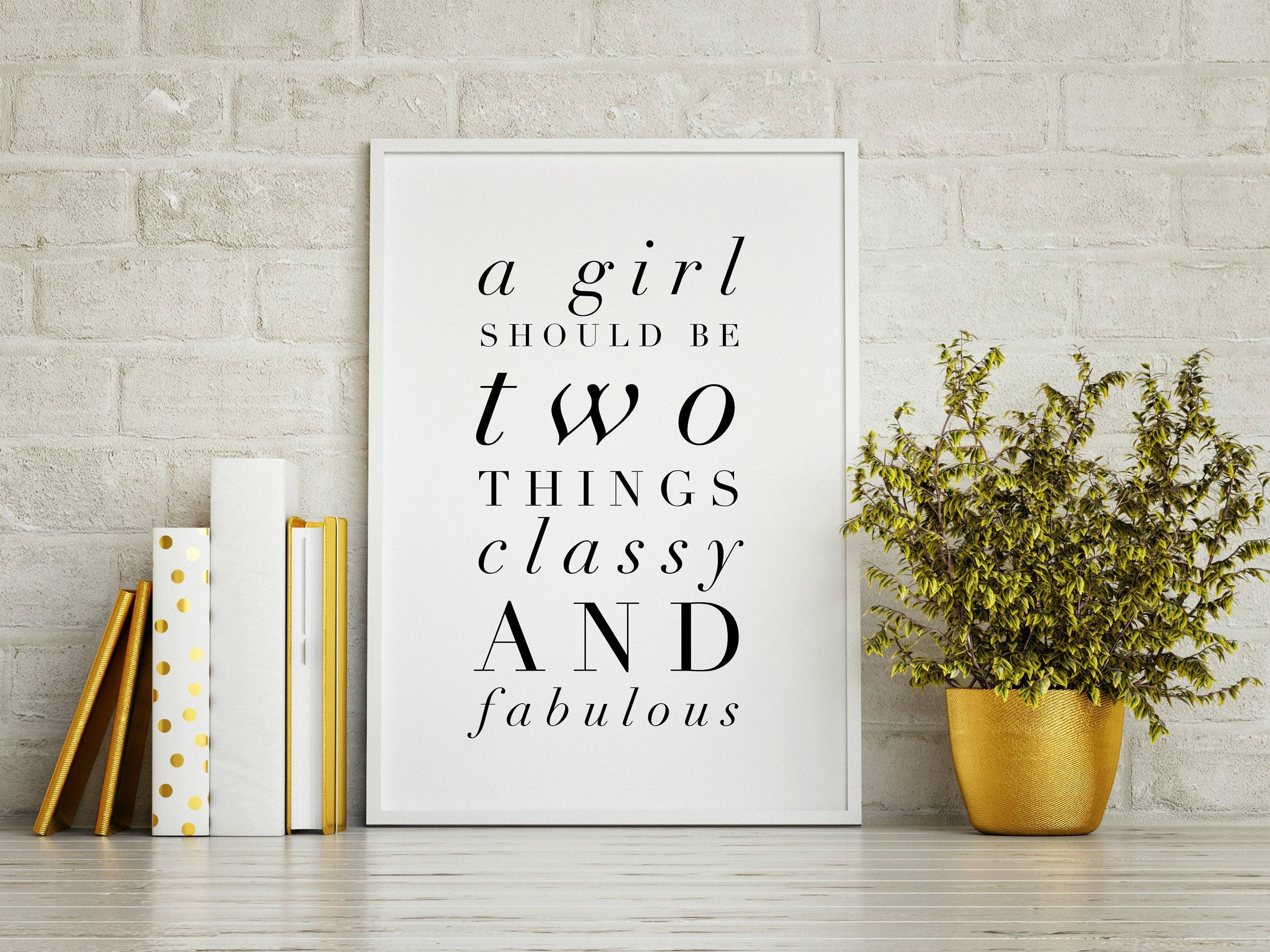 Classy And Fabulous – Coco Chanel Quote, High Fashion Wall Art With Newest Coco Chanel Wall Stickers (View 16 of 30)