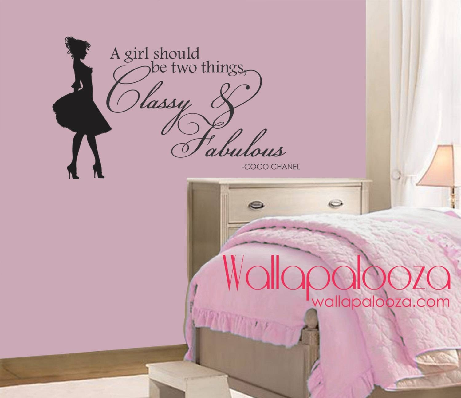 Classy And Fabulous Wall Decal Coco Chanel Wall Quote With Most Recently Released Coco Chanel Wall Decals (View 8 of 25)