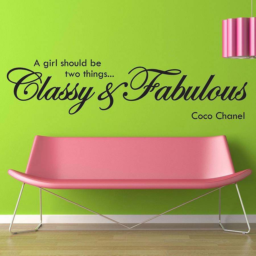 Classy And Fabulous Wall Stickersparkins Interiors In Most Current Coco Chanel Wall Decals (View 9 of 25)