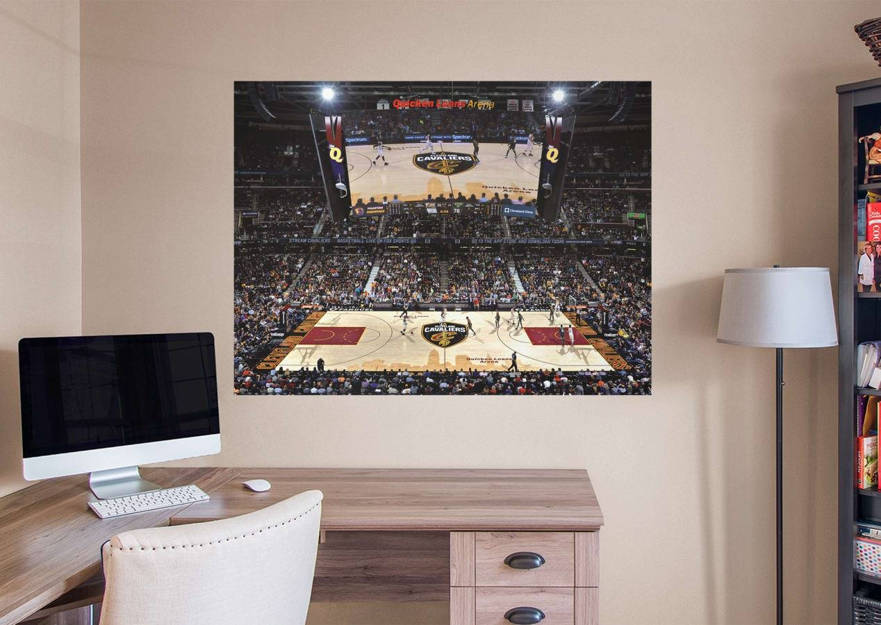 Cleveland Cavaliers Arena Mural Wall Decal   Shop Fathead® For Throughout Most Current Nba Wall Murals (View 4 of 25)