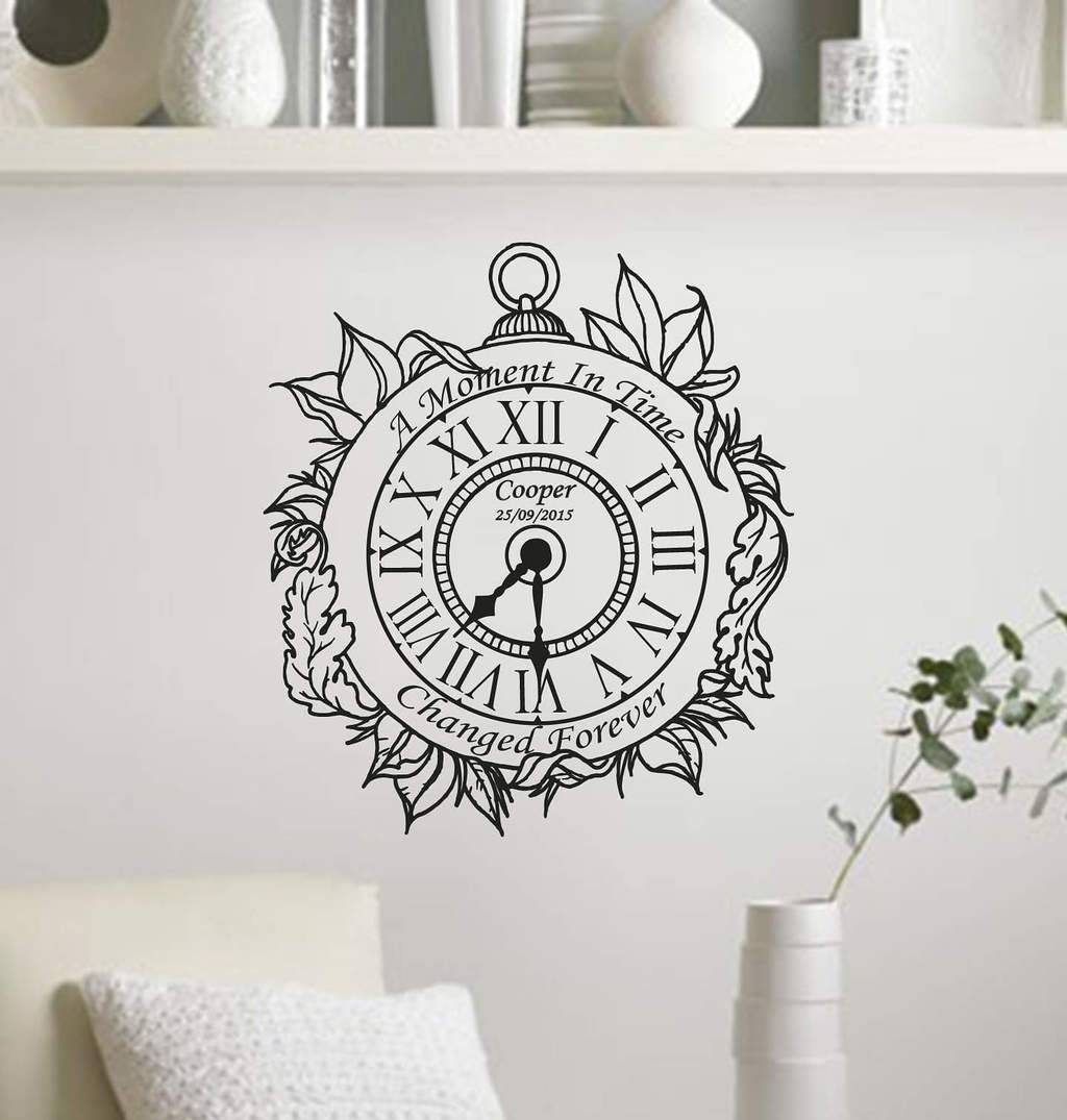 Clocks: Amazing Wall Art Clock Large Modern Wall Clocks, 36 Inch Pertaining To Most Popular Large White Wall Art (View 11 of 20)