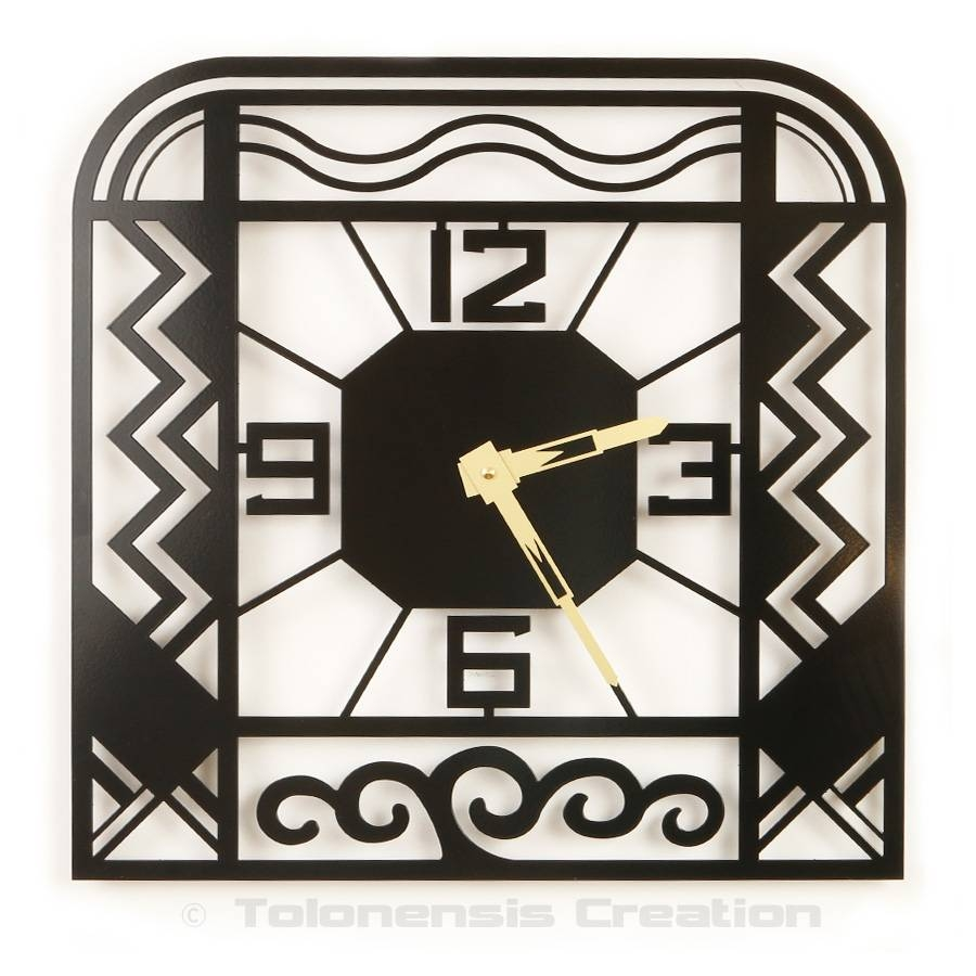 Clocks Delorentis – Wall Clocks Delorentis Within 2018 Art Deco Wall Clocks (Gallery 19 of 25)