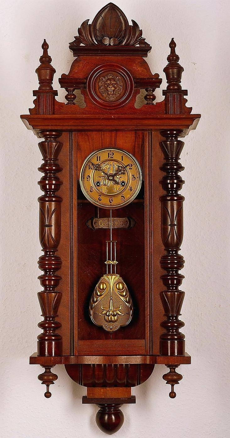 Clocks: Kitchen Wall Clocks With Pendulum Antique Pendulum Wall In Newest Italian Ceramic Wall Clock Decors (View 6 of 25)