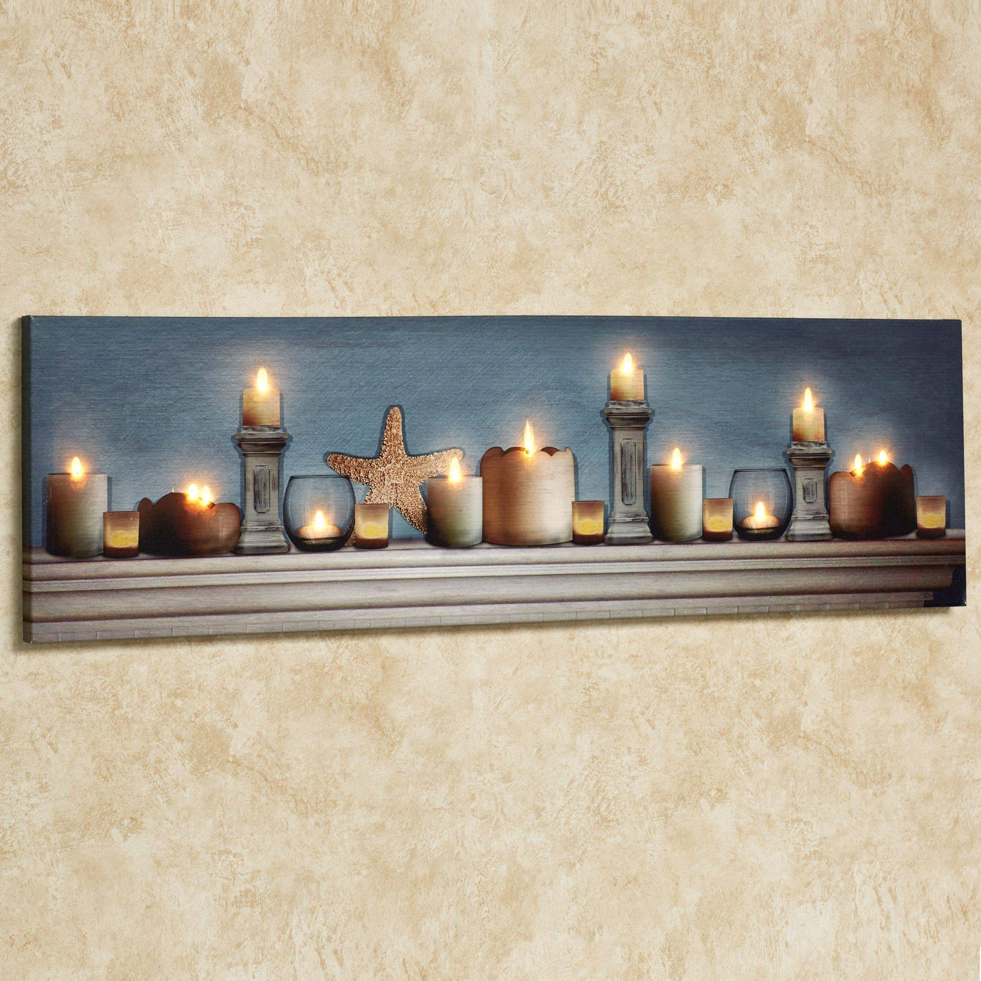 Coastal Charm Led Lighted Canvas Wall Art Pertaining To Newest Coastal Wall Art Canvas (View 5 of 20)