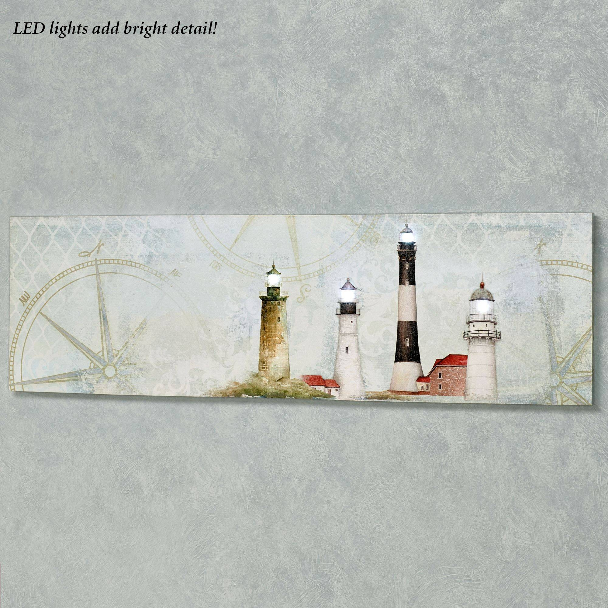 Coastal Lighthouse Led Lighted Canvas Wall Art In Most Recent Coastal Wall Art Canvas (View 6 of 20)