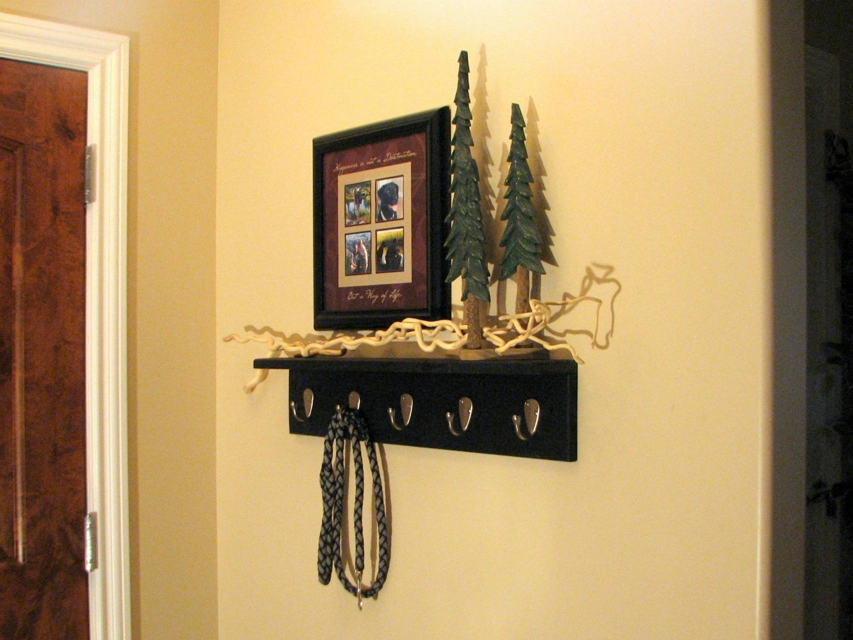 Coat Rack Shelf Angle View | Contractor Kurt With Newest Wall Art Coat Hooks (View 13 of 20)