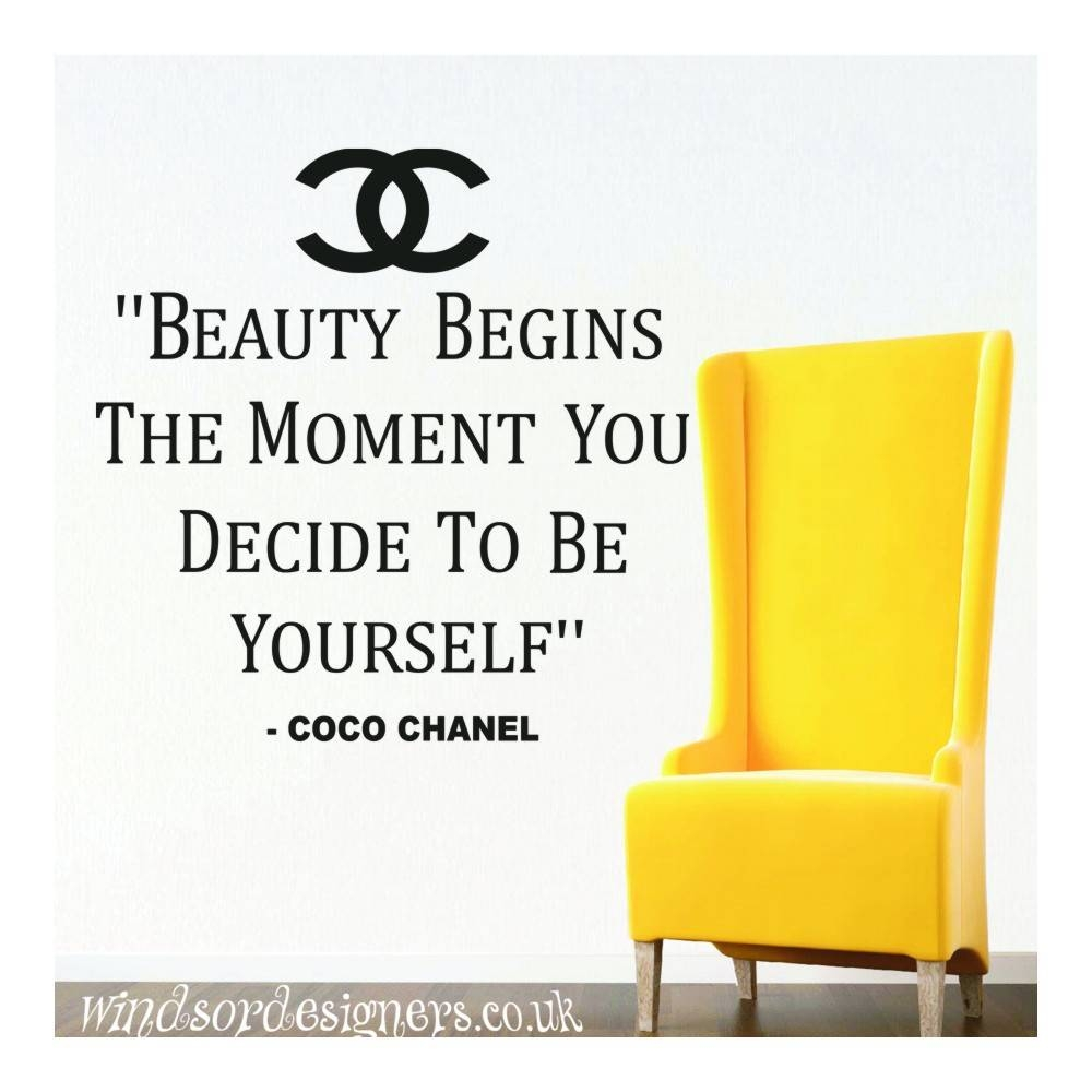 "Coco Chanel "" Beauty Begins The Moment You Decide To Be Yourself With Regard To Most Recently Released Coco Chanel Wall Stickers (View 13 of 30)"