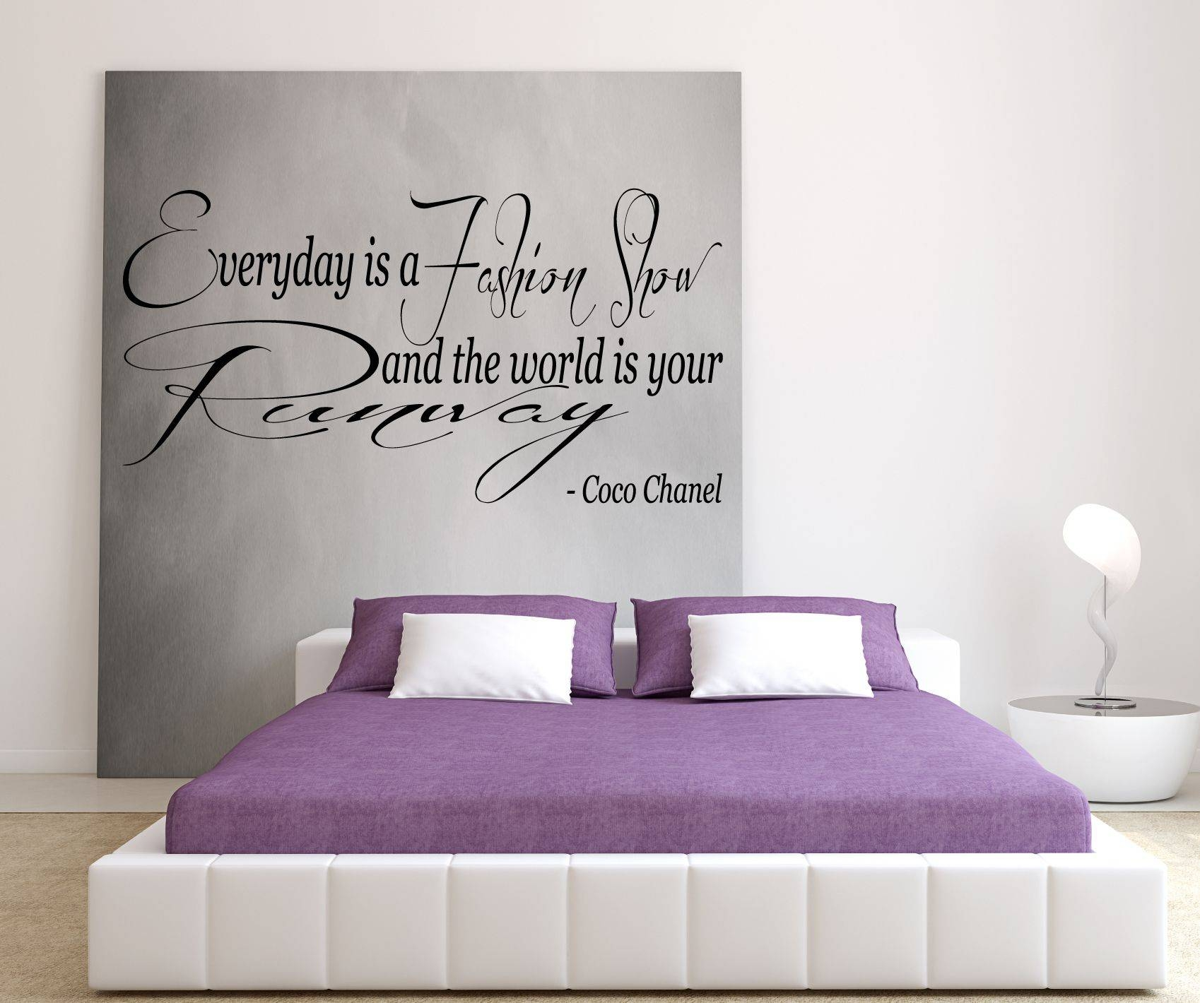 Coco Chanel – Everyday Is A Fashion Show And The World Is Your In Best And Newest Coco Chanel Wall Stickers (View 3 of 30)