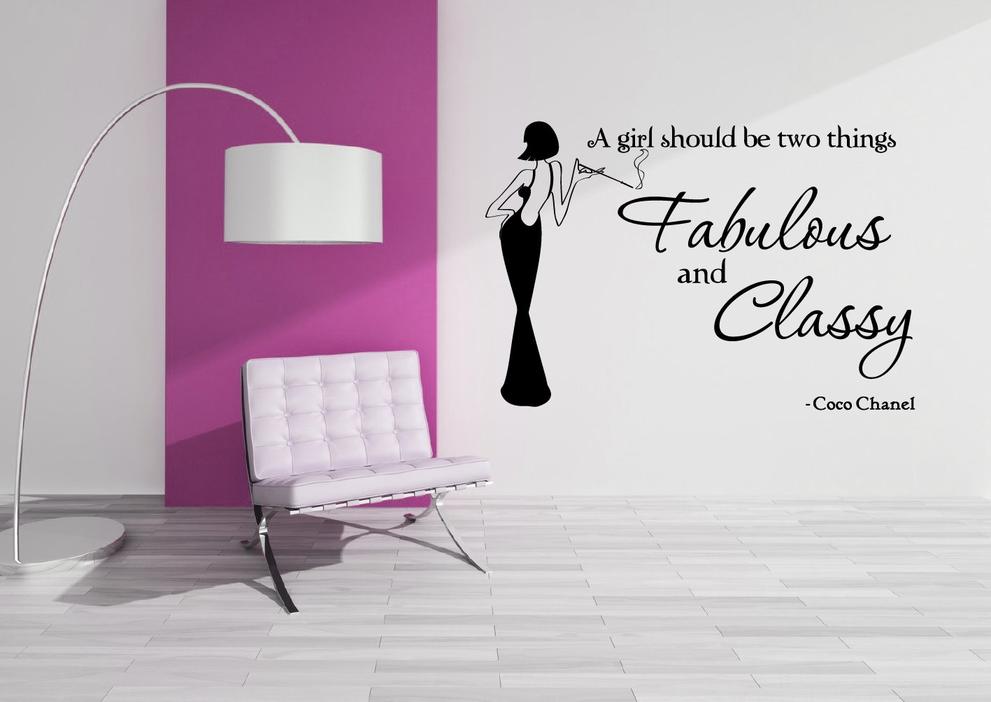 Coco Chanel – Fab & Classy – Grafix Wall Art Within Latest Coco Chanel Wall Stickers (View 6 of 30)