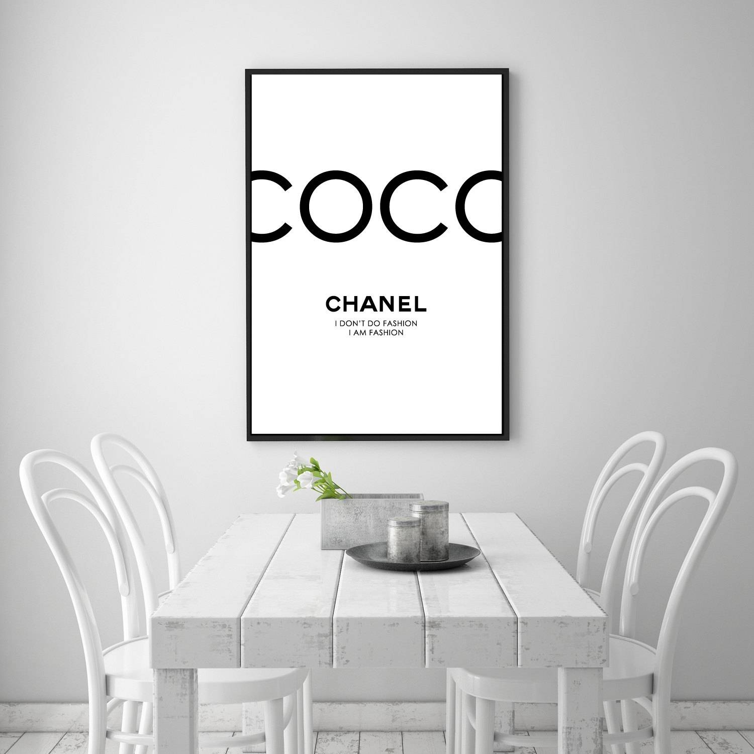 Coco Chanel Print Chanel Poster Chanel Art Coco Canvas In Most Up To Date Coco Chanel Quotes Framed Wall Art (View 13 of 30)