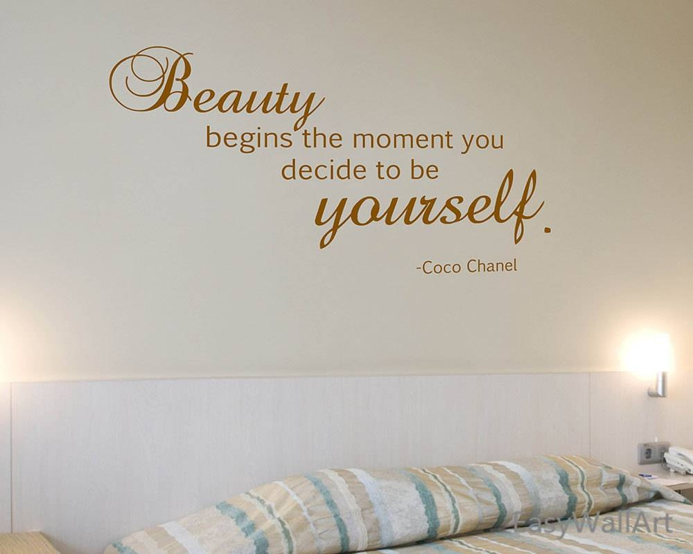 Coco Chanel Wall Decal Coco Chanel Quotes For Living Room Within Current Coco Chanel Wall Decals (View 16 of 25)