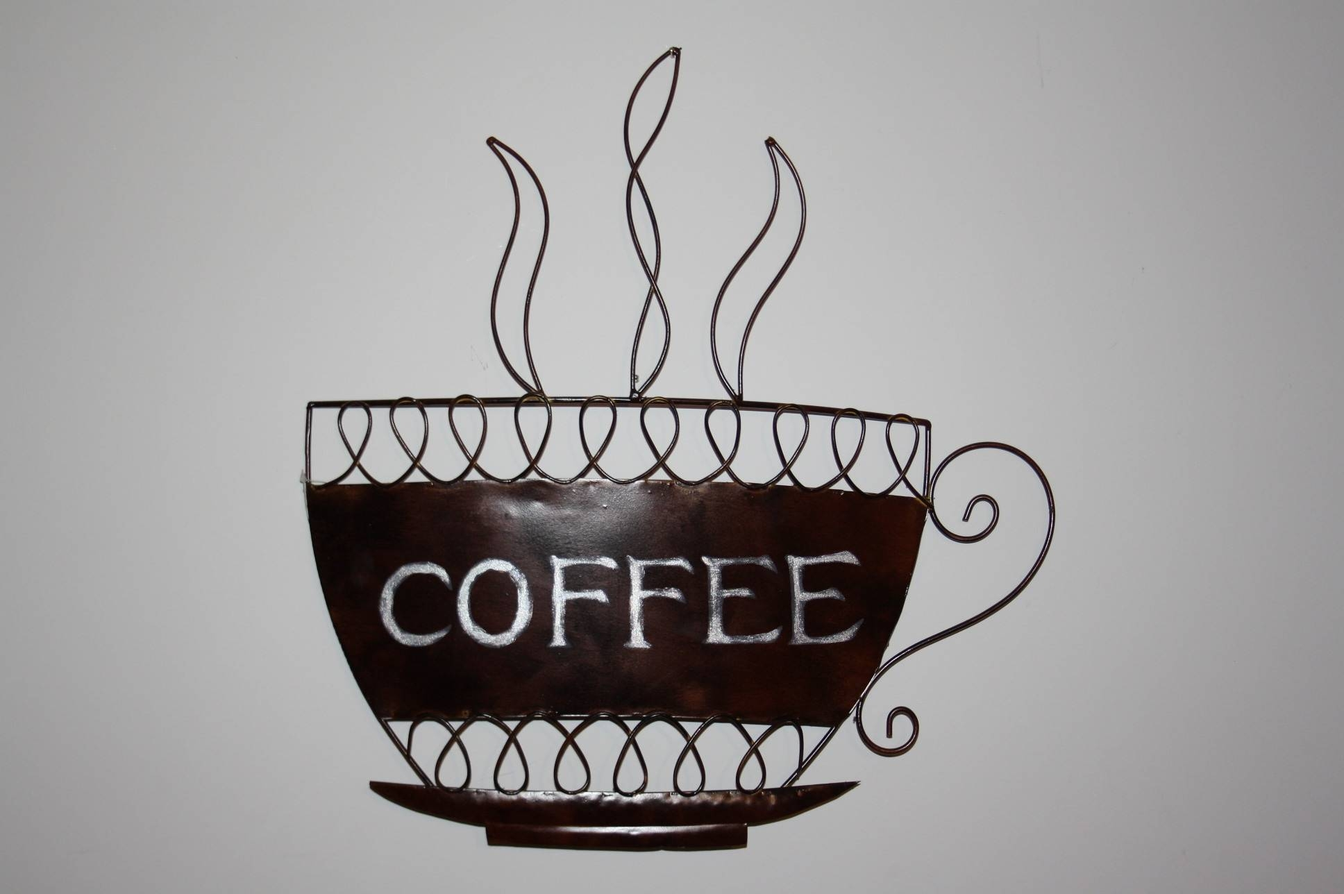 Coffee Cup Metal Wall Art Now With Free Uk P&p Intended For Most Popular Metal Coffee Cup Wall Art (View 6 of 20)
