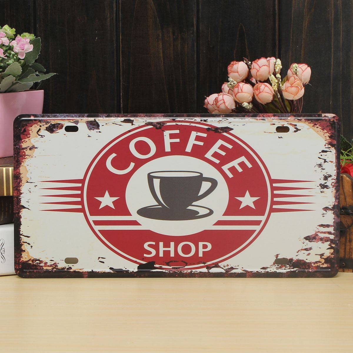 Coffee Theme Vintage Metal Sign The Fresh Brewed Coffee Wall Regarding Current Coffee Theme Metal Wall Art (View 7 of 20)