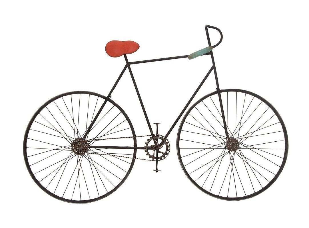 Cole & Grey Metal Bicycle Wall Decor & Reviews | Wayfair Inside Best And Newest Bicycle Metal Wall Art (View 7 of 20)