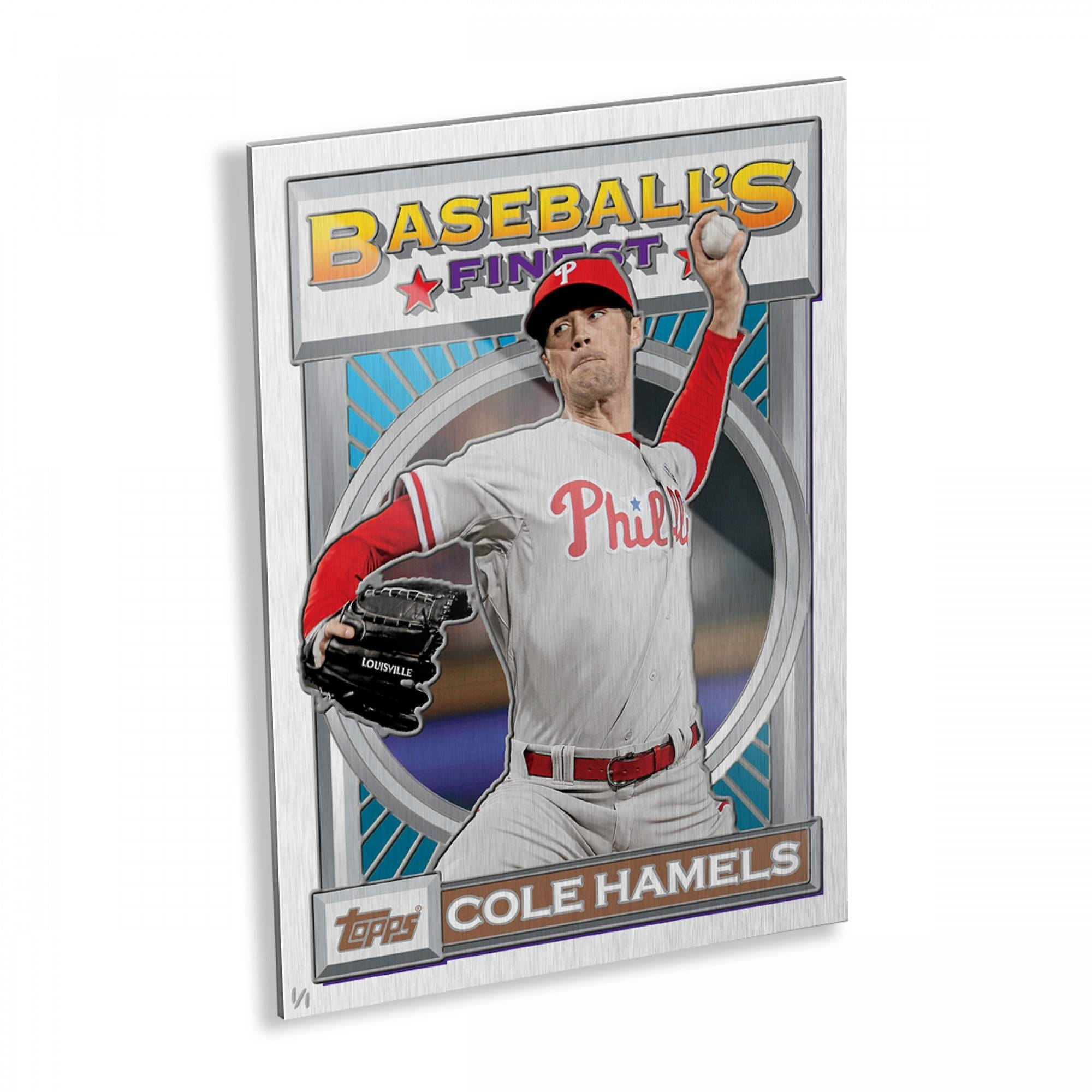 Cole Hamels 1993 Finest Metal Wall Art – # To 1 | Topps Within Best And Newest Kohl's Metal Wall Art (View 9 of 30)