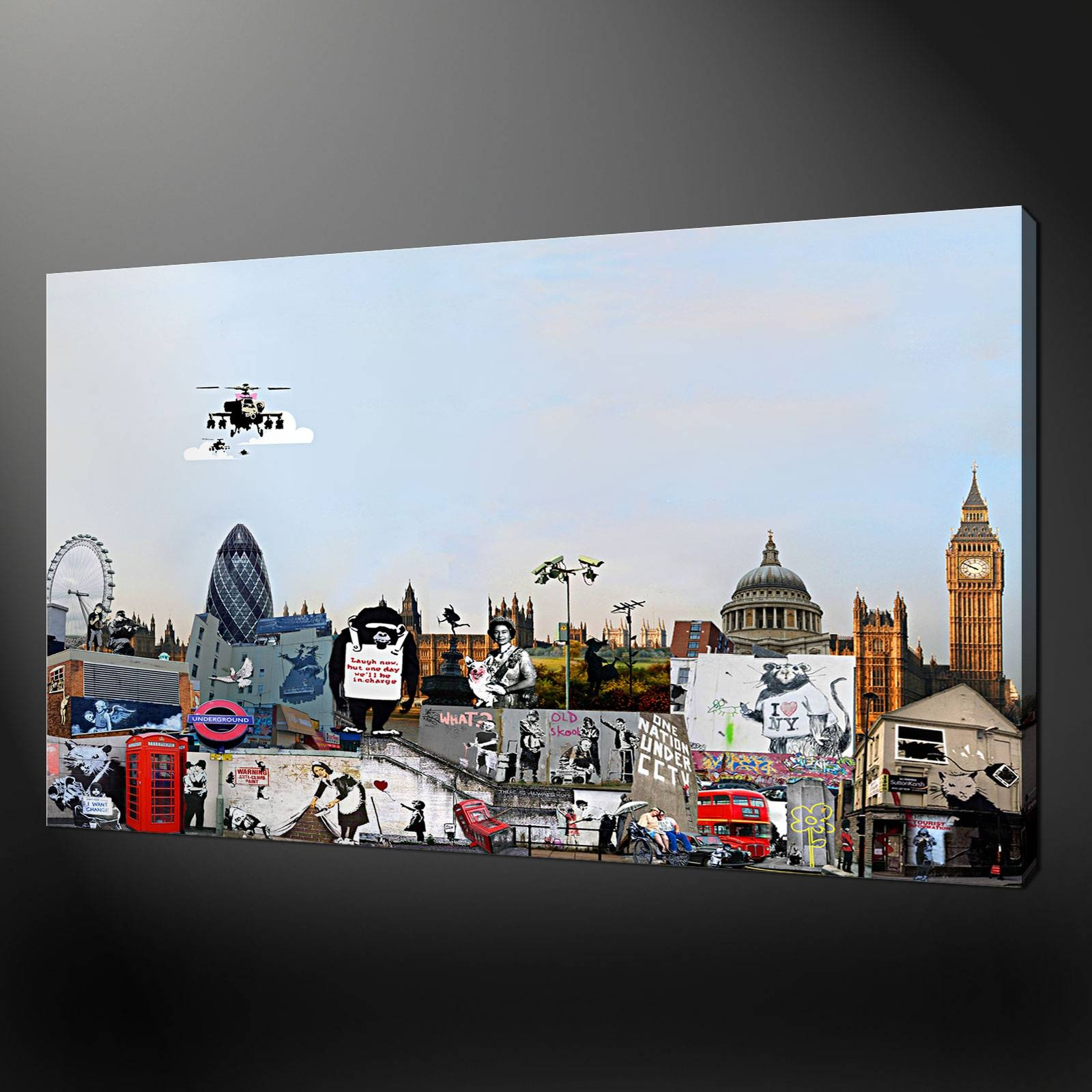 Collection Canvas Print Picture Wall Art Within Most Up To Date Banksy Wall Art Canvas (View 13 of 20)