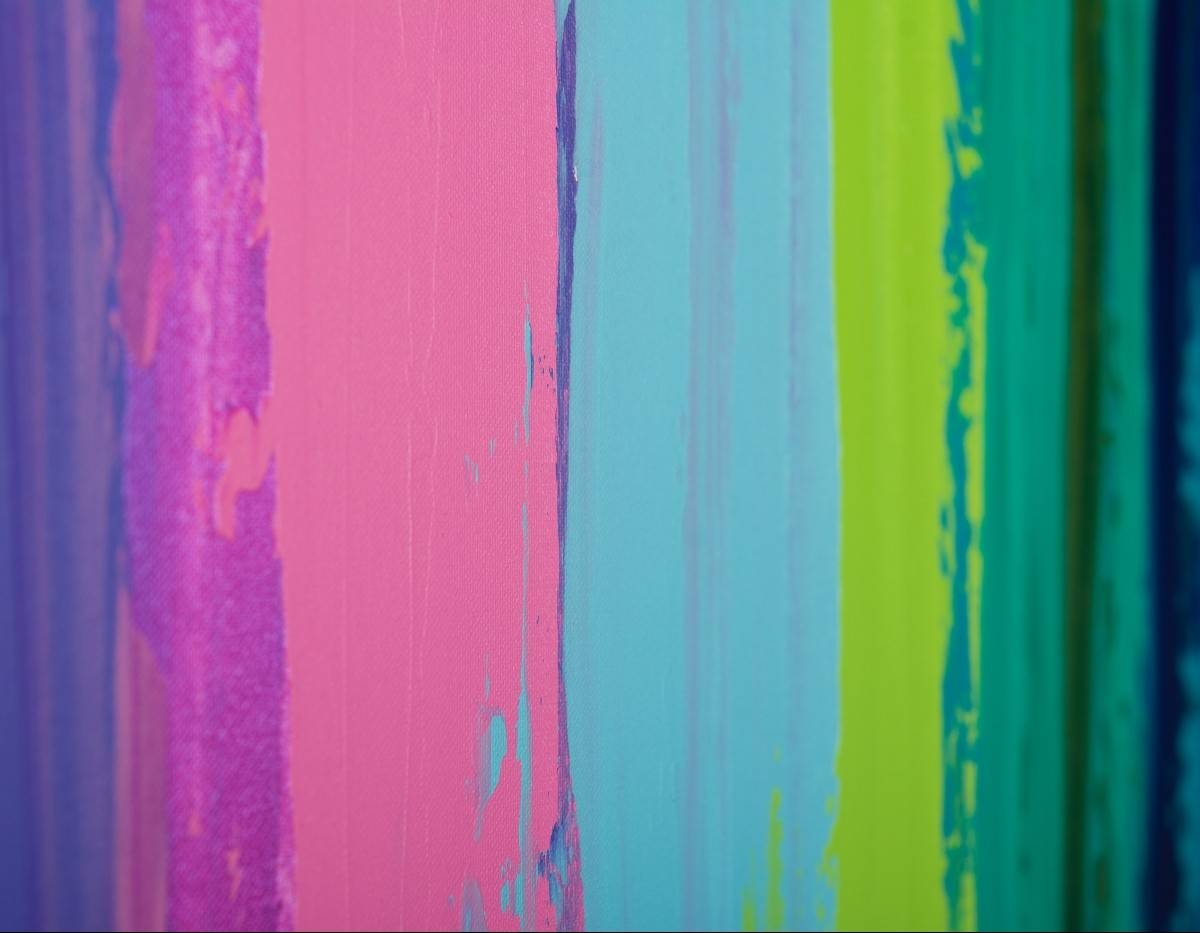 """Colorful Abstract 1Qiqigallery 48""""x24"""" Original Modern Pertaining To Latest Red And Turquoise Wall Art (View 11 of 20)"""