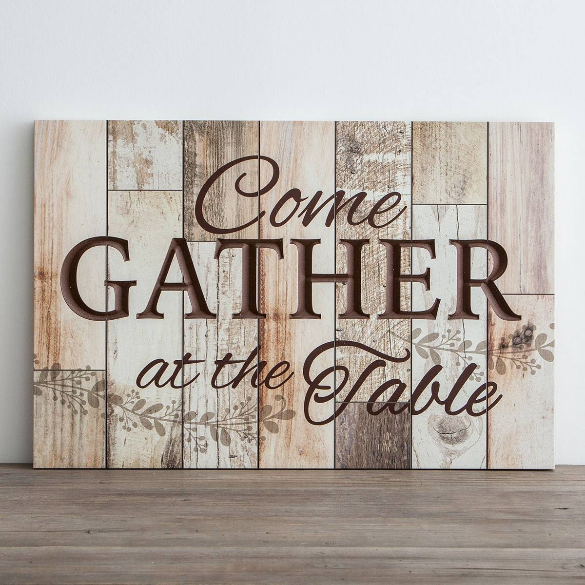 Come Gather At The Table – Wooden Wall Art | Dayspring Pertaining To Most Current Wood Wall Art (View 7 of 25)