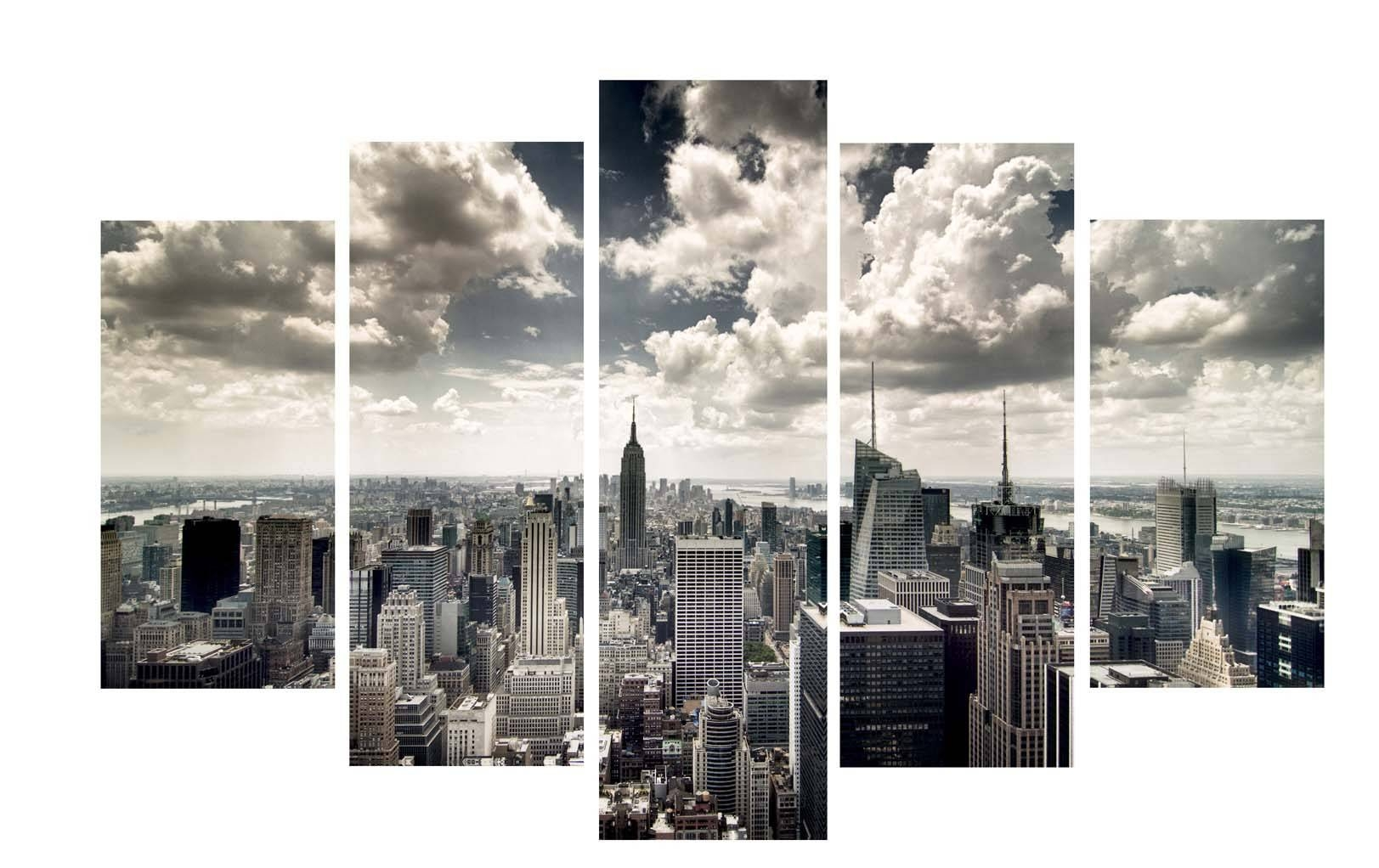 Compact New York Skyline Wall Art Stickers New York Skyline Canvas Throughout Most Recently Released Black And White New York Canvas Wall Art (View 8 of 20)