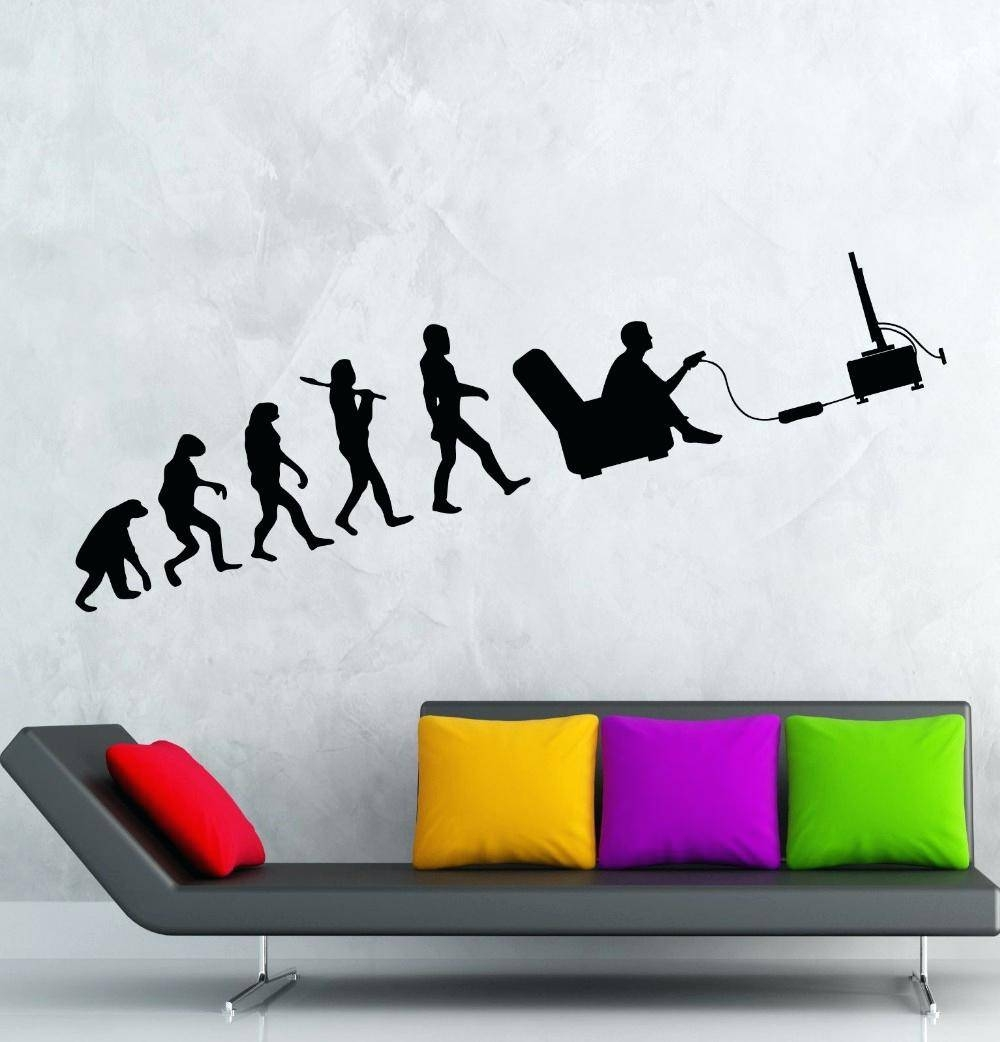 Computer Wall Decals Gaming Wall Vinyl Decal Vinyl Decal Gaming Throughout Most Recent Video Game Wall Art (View 11 of 30)