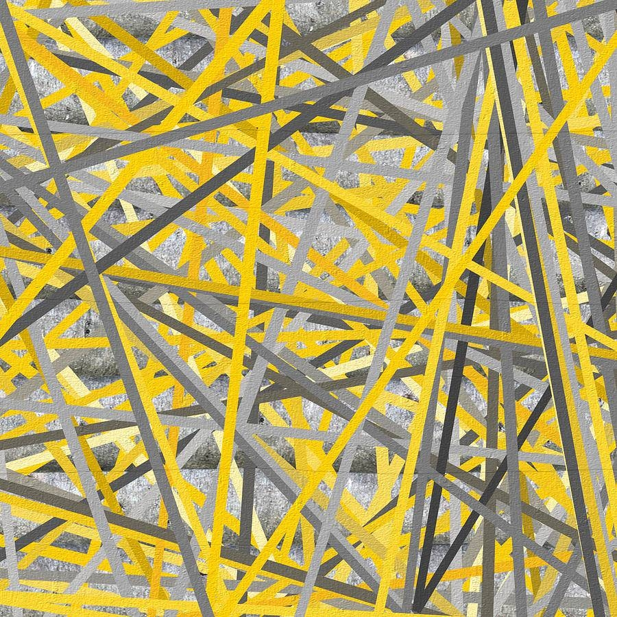 Connection – Yellow And Gray Wall Art Paintinglourry Legarde Pertaining To Current Yellow And Gray Wall Art (View 3 of 15)