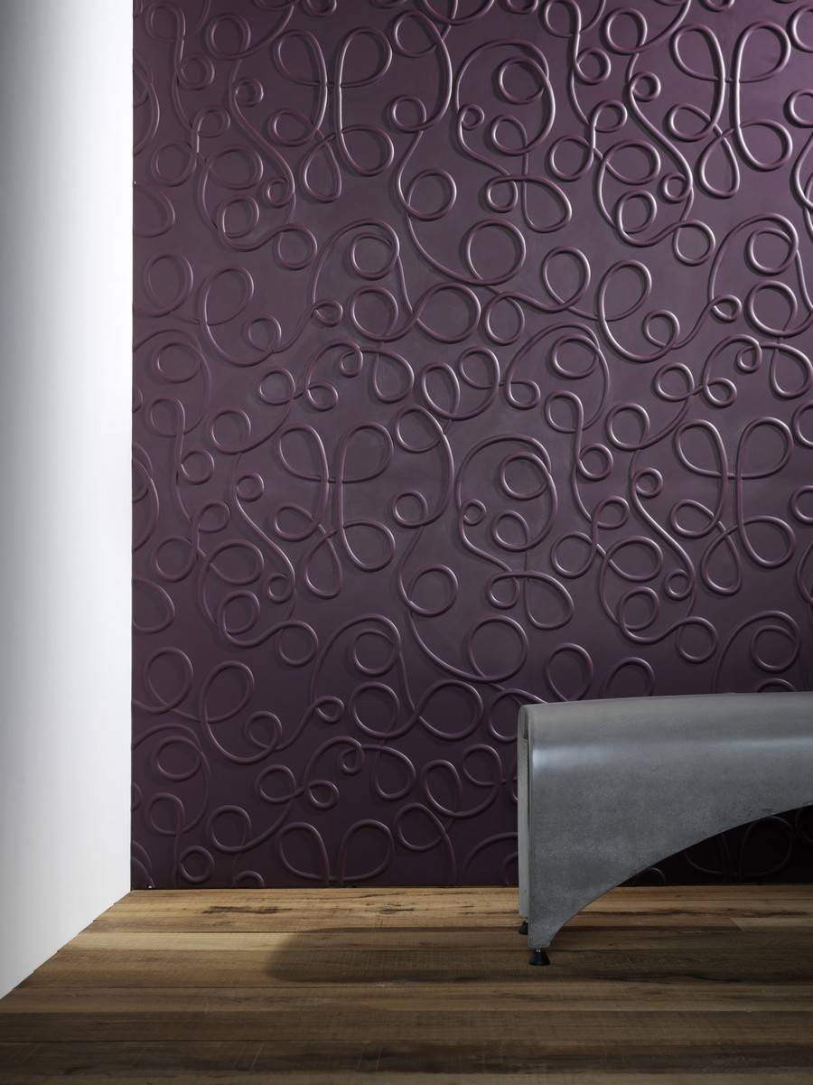 Contemporary 3D Wall Panel Design Feature Curve Line Pattern With With Regard To 2018 3D Wall Panels Wall Art (View 7 of 20)